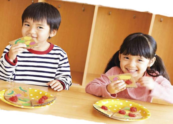 個性豊かに「ミックスピザ」~3・4歳児