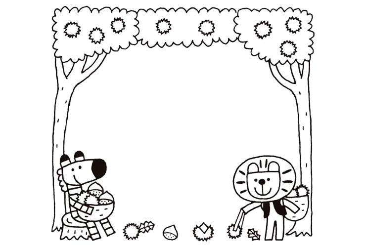 9月の子どものイラスト