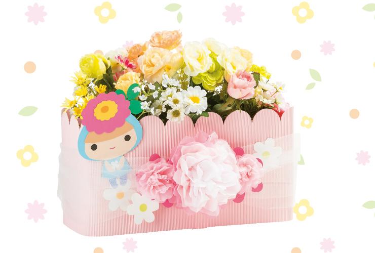お花が引き立つプランター飾り