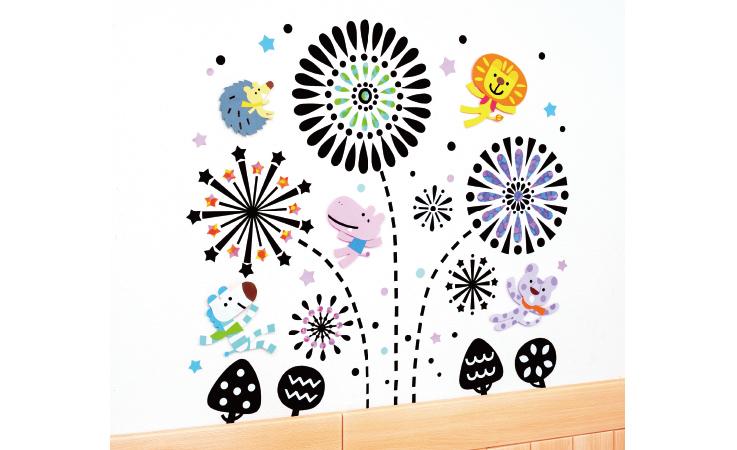 白壁に黒を利かせて「ファンタスティック花火」