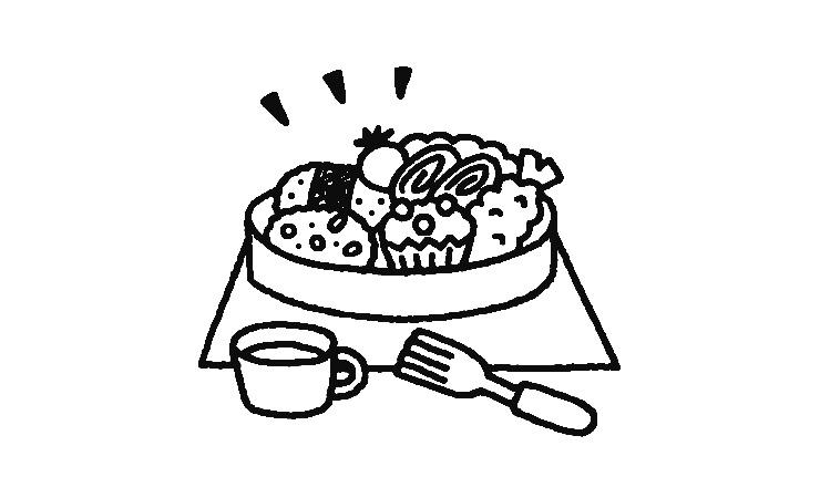 お弁当のイラスト