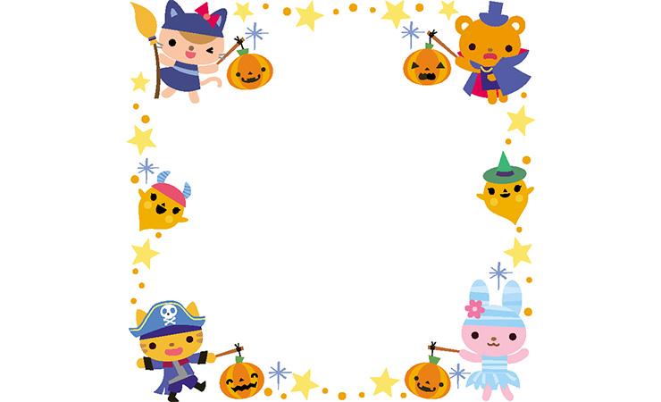 ハロウィンの飾り枠
